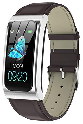 Fitness Armband Uhr mit Blutdruckmessung IP68 Wasserdicht Pulsuhr Sport Damen Herren IOS Android Smartwatch Schlaf Tracker Laufuhr Aktivitätstracker Schrittzähler Fitnessuhr...