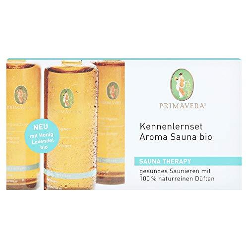 Primavera Bio Kennenlern-Set Aroma Sauna, 3 x 10 ml (Orange-Ingwer/Lemongrass-Zeder/Honig-Lavendel)