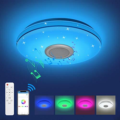 LED Deckenleuchte Dimmbar mit Bluetooth Lautsprecher...