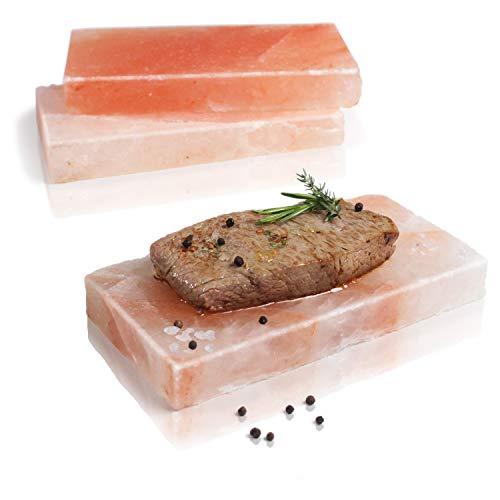 Amazy BBQ Salzstein zum Grillen (3 Stück) – Hochwertiger Grillstein aus Salz für die Zubereitung von Fleisch und Fisch mit leckerer Salzkruste auf dem Grill oder im...