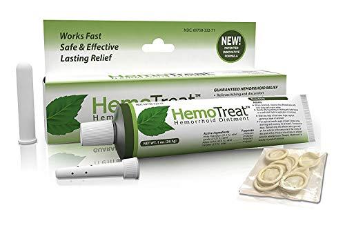HemoTreat Hämorrhoiden Behandlung Creme - HemoTreat 1 Tube mit internem Applikator - Schnelle Sicher Effektive Linderung der Hämorrhoidale Symptome, Salbe für interne und...