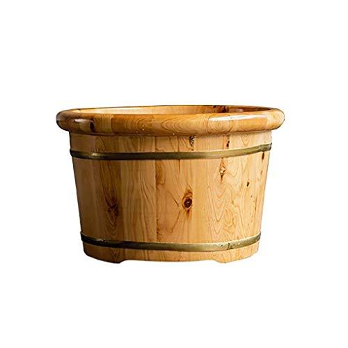 GAXQFEI Fußbadeimer,Holzfußbadeimer Für Fußbad,Saunazubehör Saunaeimer Wassereimer,Handgefertigte Holzfußbadewannen,Fußentspannungsfass