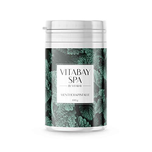 Vitabay Mentholkristalle für erfrischende Saunaaufgüsse 100 g • 100% Minzöl • Naturrein