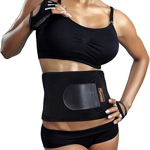 Sportneer Bauchweggürtel Fitnessgürtel, Schwitzgürtel, Verstellbarer Neopren-Fitness-Gürtel für Rückenstütze, Gewichtsverlust-Wickel, Schweißverstärker,...