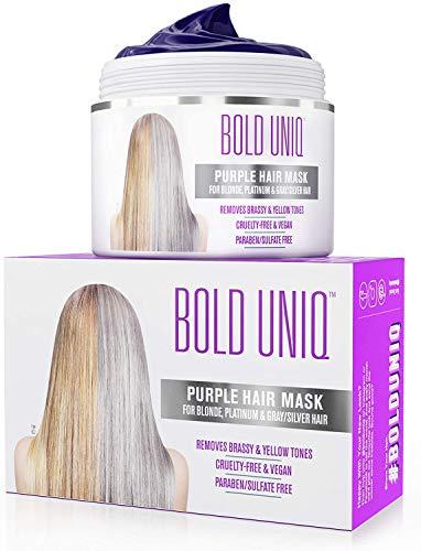 Silber Haarmaske für silbernes und blondiertes Haar -...