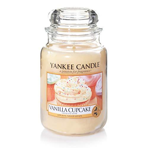 Yankee Candle Duftkerze im Glas (groß) | Vanilla Cupcake | Brenndauer bis zu 150 Stunden