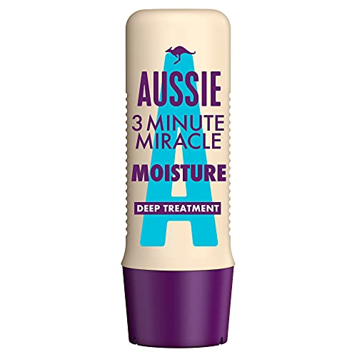 Aussie 3 Minute Miracle Moisture Intensivpflege Für Trockenes, Durstiges Haar, 250 ml, Mit Macadamianussöl, Haarmaske, Haarkur Trockenes Haar, Haarkur, Haarpflege Trockenes...