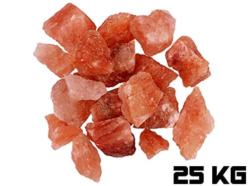 Saunasalz Kristallsalz Brocken 1-25 KG Saunasteine gemischt 3-12 cm Salzstein Sauna Zubehör für Saunaofen Saunaaufguss Salz Sole (25 KG)