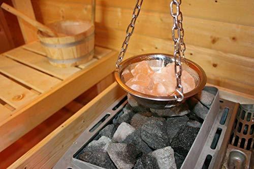 Sauna Verdampferschale Kräutertopf Edelstahl für Sauna und...