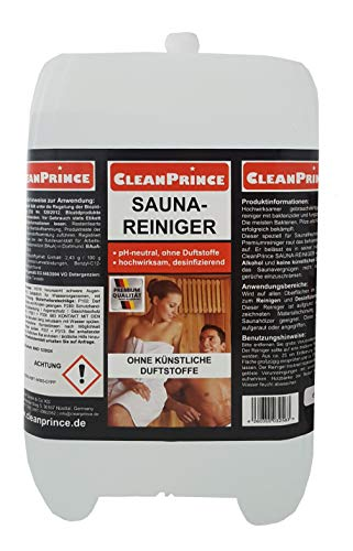 Saunareiniger 5 Liter | flüssiger Saunaholzreiniger Holzreiniger Desinfektion Sauna Saunadesinfektion sofort gebrauchsfertiger Nachfüllkanister