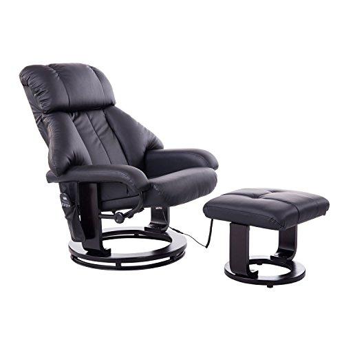 HOMCOM Massagesessel Fernsehsessel Sessel mit Hocker Massage...
