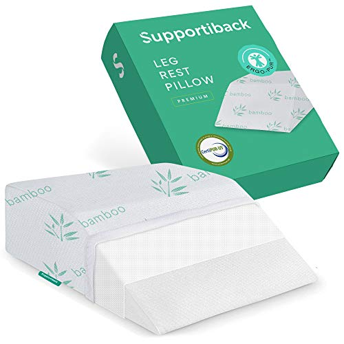 Supportiback® therapeutisches Beinkissen – mit Memory-Schaum, waschbarem Bezug, entworfen von Ärzten für Rücken-, Hüft- und Beinschmerzen, Ödeme sowie zur besseren...