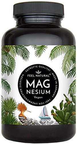 Magnesium Kapseln - 365 Stück (1 Jahr). 664mg je Kapsel, davon 400mg ELEMENTARES (reines) Magnesium - höherer Gehalt als Magnesiumcitrat. Laborgeprüft, hochdosiert. Vegan,...