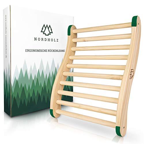 Ergonomische Sauna Rückenlehne - Die Perfekte Rückenstütze für sofortigen Wohlfühleffekt - Hochwertiges Sauna Zubehör aus 100% nordische Fichte für Infrarotkabine -...