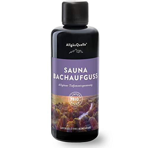 Saunaaufguss mit 100% BIO-Öle Tiefenentspannung Lavendel Zeder Mandarine (100ml). Natürlicher Sauna-aufguss m. ätherische Sauna-Öle im Aufguss-Mittel. Saunaöl natrurrein...