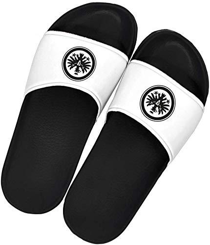 Eintracht Frankfurt Badelatschen/Badeschlappen schwarz weiß...