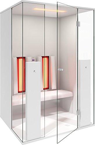 b-intense Infrarotkabine | Infrarotsauna Sauna Infrarot Rotlicht Wärmekabine Select LINE 2 für Zwei Person weiß matt by Physiotherm - EIN Angebot von welcon-Wellness.de