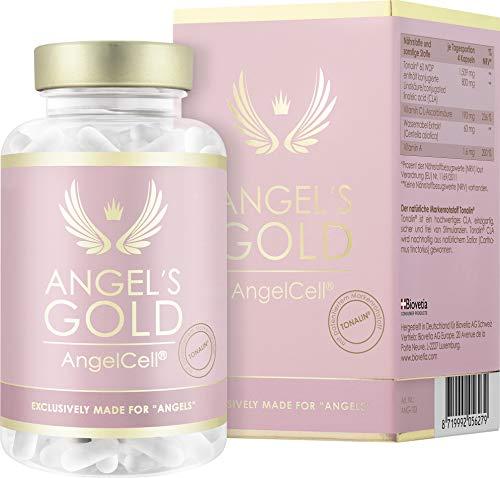 Angel's Gold® AngelCell® studienbasierte 2 Monate Anti Cellulite Kur, mit Tonalin® CLA und Centella, 100% natürlich und vegan gegen Cellulite und Fettpolster, 240 vegane...