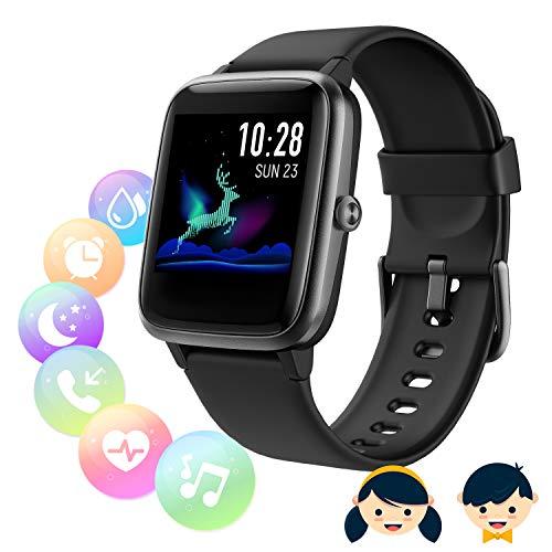 SmartWatch Fitness Tracker,Fitness Armband mit herzfrequenz,Smart Watch IP68Wasserdicht Fitness Uhr,Voller Touchscreen mit Musiksteuerfunktion Schlafmonitor für IOS Android...