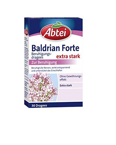 Abtei Baldrian Forte – extra starke pflanzliche Beruhigungsdragees aus der Baldrianwurzel – bei nervöser Anspannung und Schlafstörungen – ohne Gewöhnungseffekt – 1...
