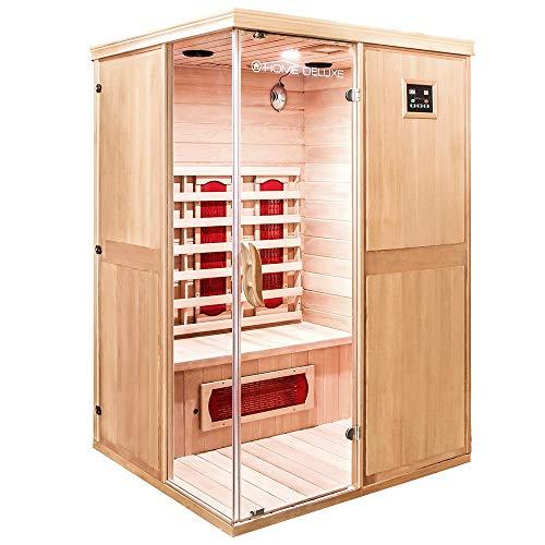 Home Deluxe – Infrarotkabine – California L – Keramikstrahler – Holz: Hemlocktanne - Maße: 130 x 120...