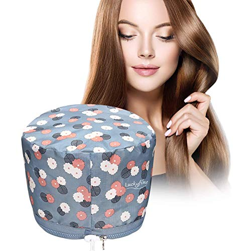 Luckyfine Haarpflege Thermal Dampfer Cap, SPA Treatment Nährend Haar-Sorgfalt-Kappen elektrische Haar-thermische Behandlung, Hair Care Cap Schönheitsdampfer perfekt für...