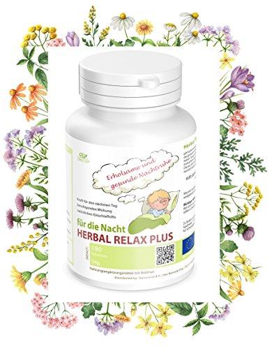 Nachtruhe Schlaf Beruhigungsmittel Mensch: Herbal Relax Plus, einzigartige Heilkräutermischung für eine erholsame und gesunde Nachtruhe. Hilft daher bei Angst, nervösen...