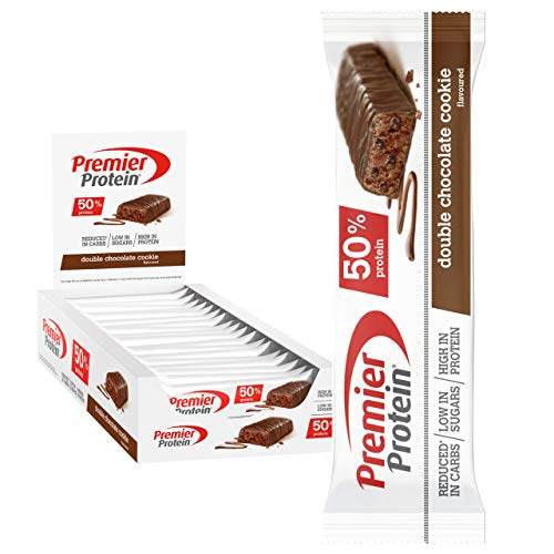 Premier Protein Protein Bar Double Chocolate 24x40g - High...