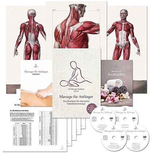 Massage für Anfänger: Ein Heimkurs für klassische Ganzkörpermassage. Der Massage-Kurs speziell für das Massieren-Lernen zu Hause. (Über 440 Massage-Techniken auf 4 DVDs...