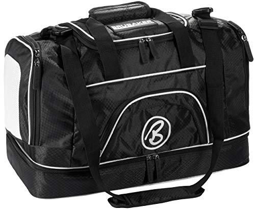 Brubaker 'Big Base' XXL Sporttasche 90 L mit großem Nassfach als Bodenfach + Schuhfach - Schwarz