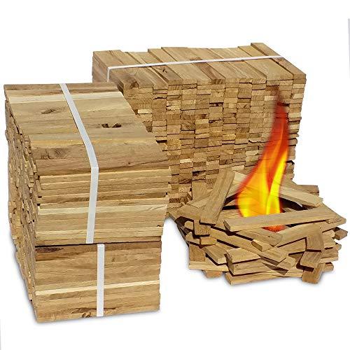 Premium Eiche Anmachholz – Besonders sauberes und trockenes Brennholz – Ideales Anfeuerholz für eine kuschelige Raumwärme - Perfektes Zubehör um Brennholz im Kamin zu...