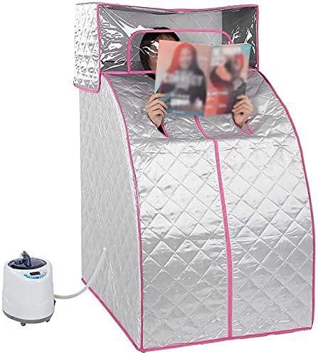 YZJL Tragbare persönliche Sauna SPA 2L Saunatopf Sauna SPA Maschine Fernbedienung Temperatur 9-stufige Temperatur Persönliche Home Sauna Zeltheizung EntgiftenSauna ubehör