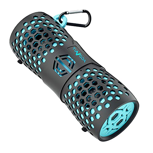 TINGDA Bluetooth Box, Tragbare Wireless Lautsprecher IPX7 Wasserfester Musikbox, 12W Lauter Stereo Sound Enhanced Bass mit Freisprechfunktion, Kabelloser Boxen für Outdoor,...