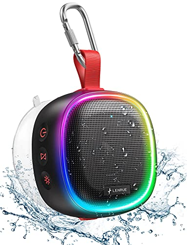 Bluetooth Lautsprecher mit RGB Licht, LENRUE IPX7...