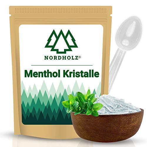 NORDHOLZ® Mentholkristalle [100gr] für Sauna in Premium Qualität aus 100% Minzöl - Befreit die Atemwege und sorgt für natürlich intensiven Duft in der Sauna - Menthol...