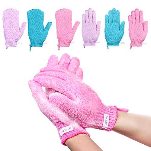 Lurrose Peeling-Handschuhe Scrubbing Badehandschuhe doppelseitige Bathwater Scrubbing Massage Handschuhe für...