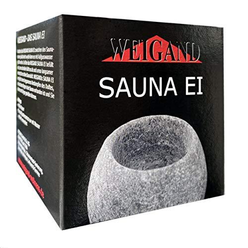 WEIGAND® Sauna Ei aus Speckstein ca. 5 x 5 cm I Das Original von WEIGAND® I Entspannt die Sinne I Saunazubehör I Zubehör