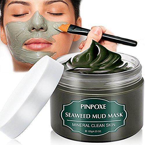 Blackhead Remover Maske, Mitesser Maske, Anti Aging Mask, Gesichtsmaske mit Algen, gegen unreine Haut, Akne, fettige Haut& Mitesser, Natural Gesicht & Körper Maske, 120g/4.23...