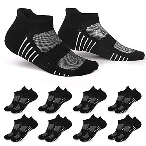 EKSHER 8 Paar Sneaker Socken Damen 35-38 Sportsocken...