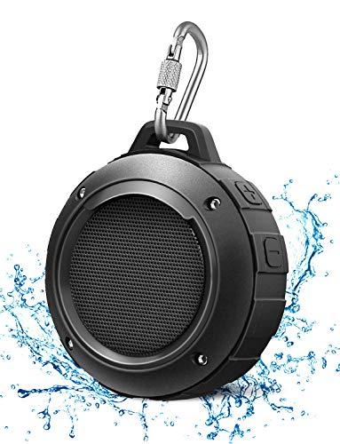 LENRUE Wasserdicht Bluetooth Lautsprecher, Kabellos Mini Tragbare Dusche Lautsprecher mit HD Stereo, 8 Stunde Spielzeit, Mikrofon, Saugnapf, Karabiner, Speaker für Outdoor,...