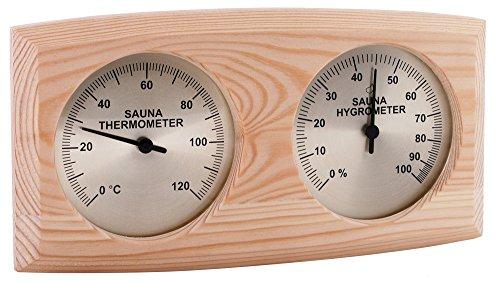 WelaSol Qualitäts Kombigerät 2 in 1 Sauna Thermometer mit Hygrometer für Sauna, Dampfsauna, Biosauna und Infrarotkabine