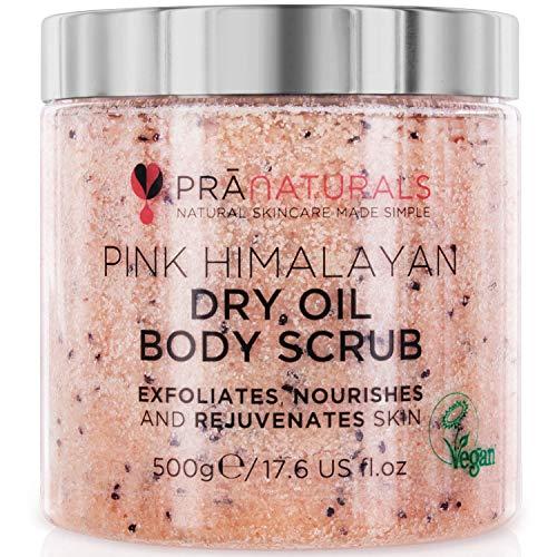 PraNaturals Körperpeeling aus rosafarbenem Himalaysalz 500...