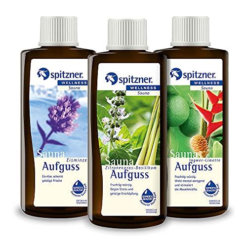 Spitzner Saunaaufguss Set Lecker 3 x 190 ml – Wellness...