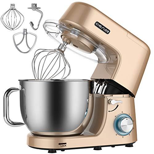 Küchenmaschine, Knetmaschine, Teigmaschine,Cheflee 1800W Multifunktion Food StandMixer Processor zum Backen, 6-stufige Geschwindigkeit 7,2 Liter Edelstahl-Schüssel mit...