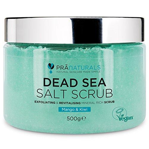 PraNaturals Erfrischendes Körperpeeling Body Scrub aus dem Toten Meer 500g 100% Bio nahrhaftes Hautpeeling Salzpeeling reich an natürlichen Mineralstoffen für alle...
