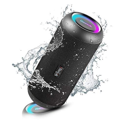 RIENOK Bluetooth Lautsprecher tragbar kabellos Musikbox 30W...