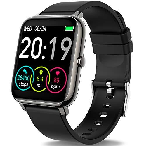 Smartwatch, Rinsmola Fitnessuhr 1.4 Zoll Voll Touchscreen...