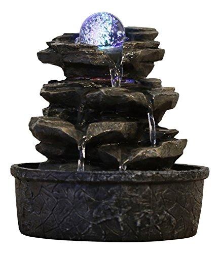 Zen'Light Little Rock Brunnen aus Polyresin, Dunkelbraun,...