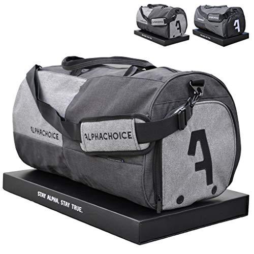Alphachoice Sporttasche mit Schuhfach 43L für Herren & Damen, Fitnesstasche - Reisetasche groß mit vielen...