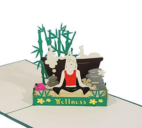 3D KARTE'Wellness' I Pop-Up Karte als Gutschein, Geldgeschenk I Klappkarte als Einladung zum Beauty, Spa